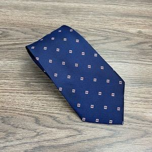Jos A Bank Navy w/ Red & White Check Tie
